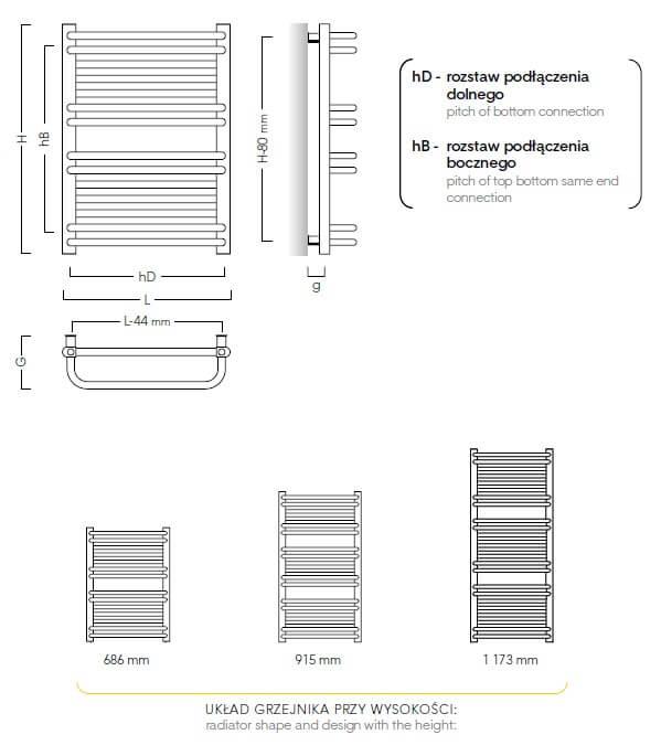 Grzejnik łazienkowy o podwyższonej mocy - Instal Projekt Sahara schemat