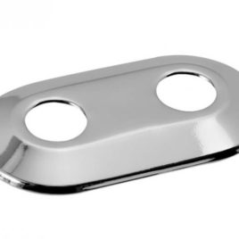 Podwójna rozeta maskująca 50 mm do zaworów grzejnikowych