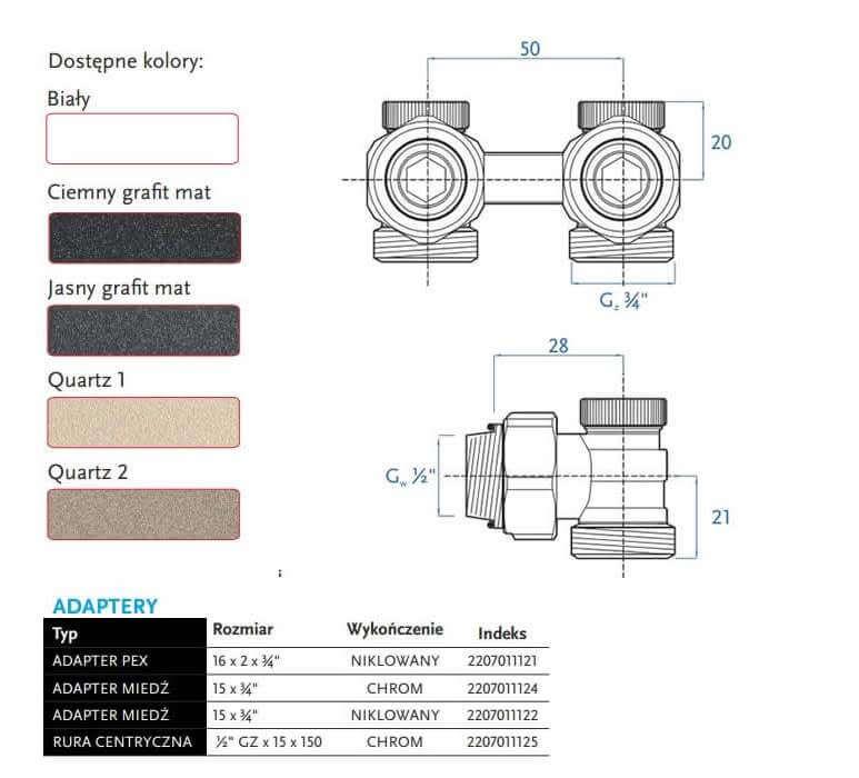 Zawór 50 mm Gorgiel rysunek techniczny