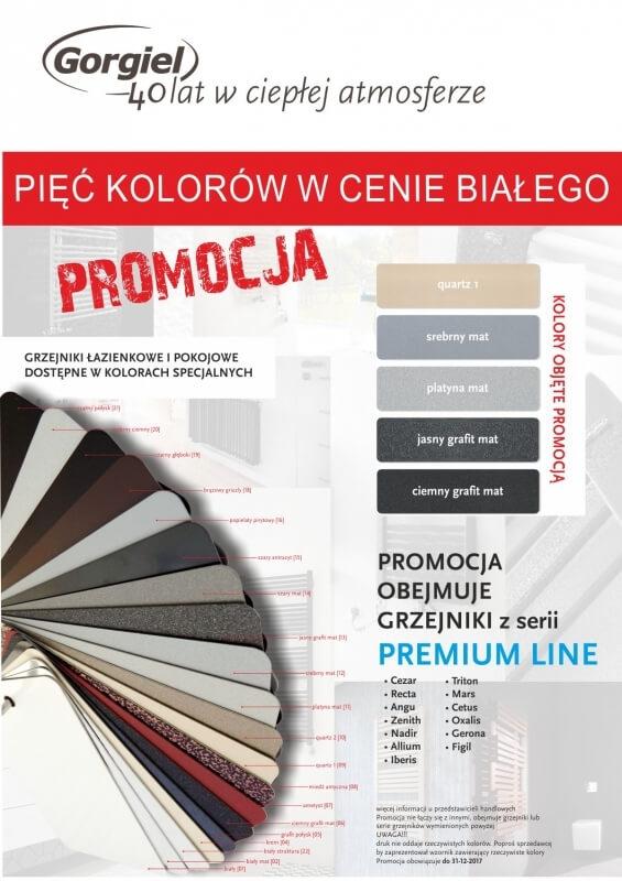 Gorgiel promocja 5 kolorów bez dopłaty