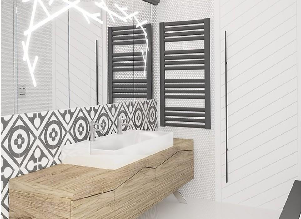 Grzejnik Makao zamontowany w łazience